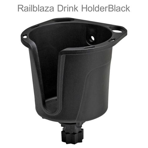 Railblaza Drink Holder|Store Mugs Bottles Lures Plier|For Kayak Canoe Boat|Black Thumbnail 1