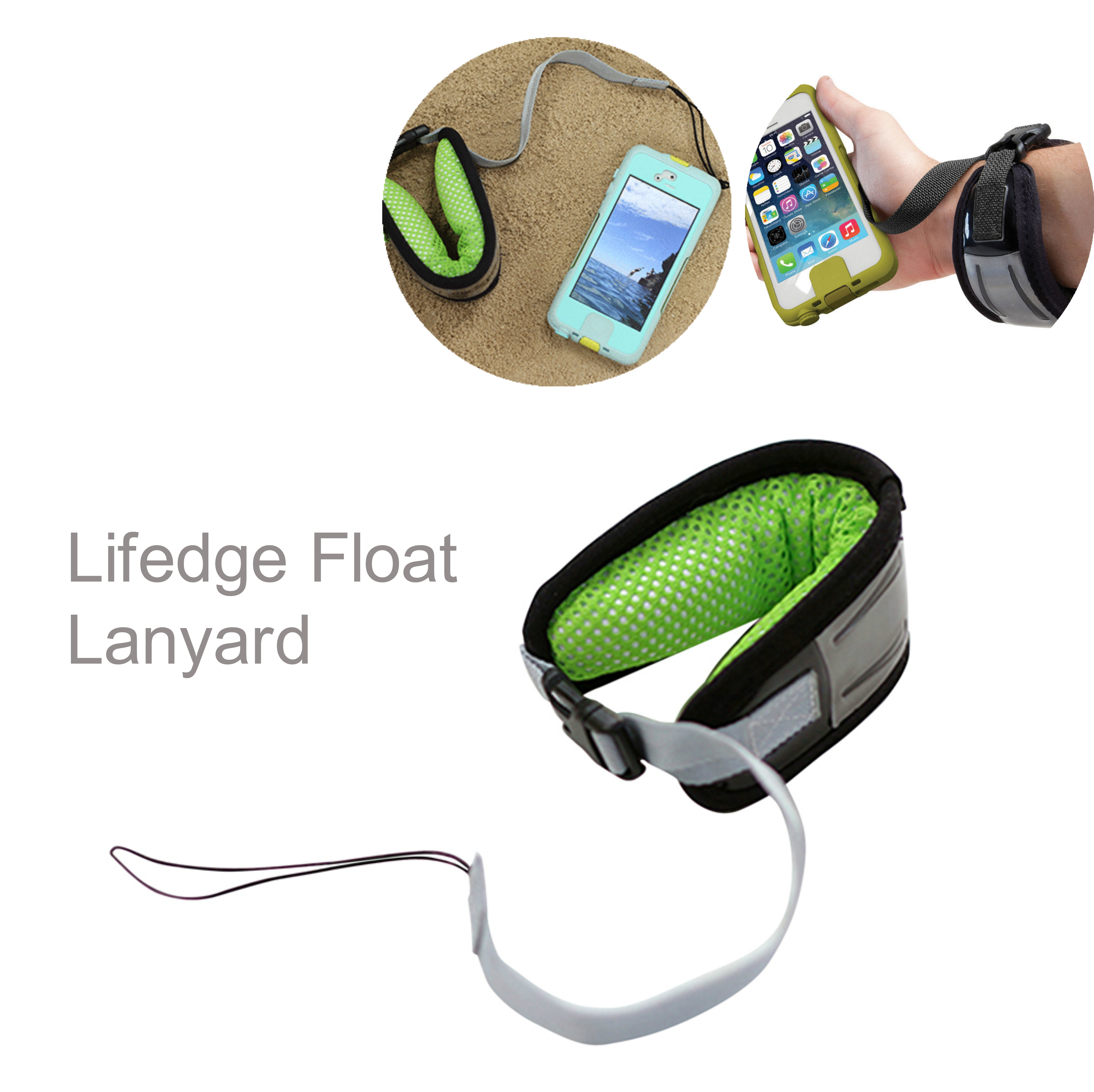 Lifedge Float Lanyard Day & Night Visible Buoyant Arm Band for Sailing Swiming