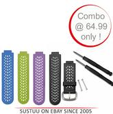 Garmin Replacement Wrist Watch Band/Strap|For Approach S2 S4 Black|4 x Colors