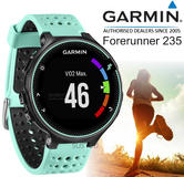 Garmin Forerunner 235 | GPS Running Sports Watch | Heart Rate/Live Tracking | BLK/BLUE