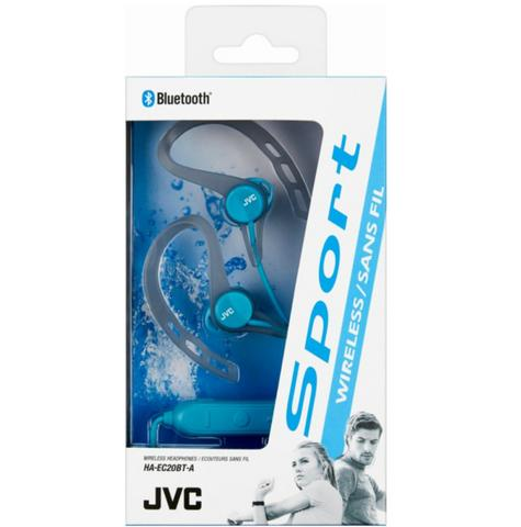 JVC HAEC20BTBE Sports Headphones|Stereo|Wireless Bluetooth|Ear Clip|In Ear|Blue Thumbnail 2