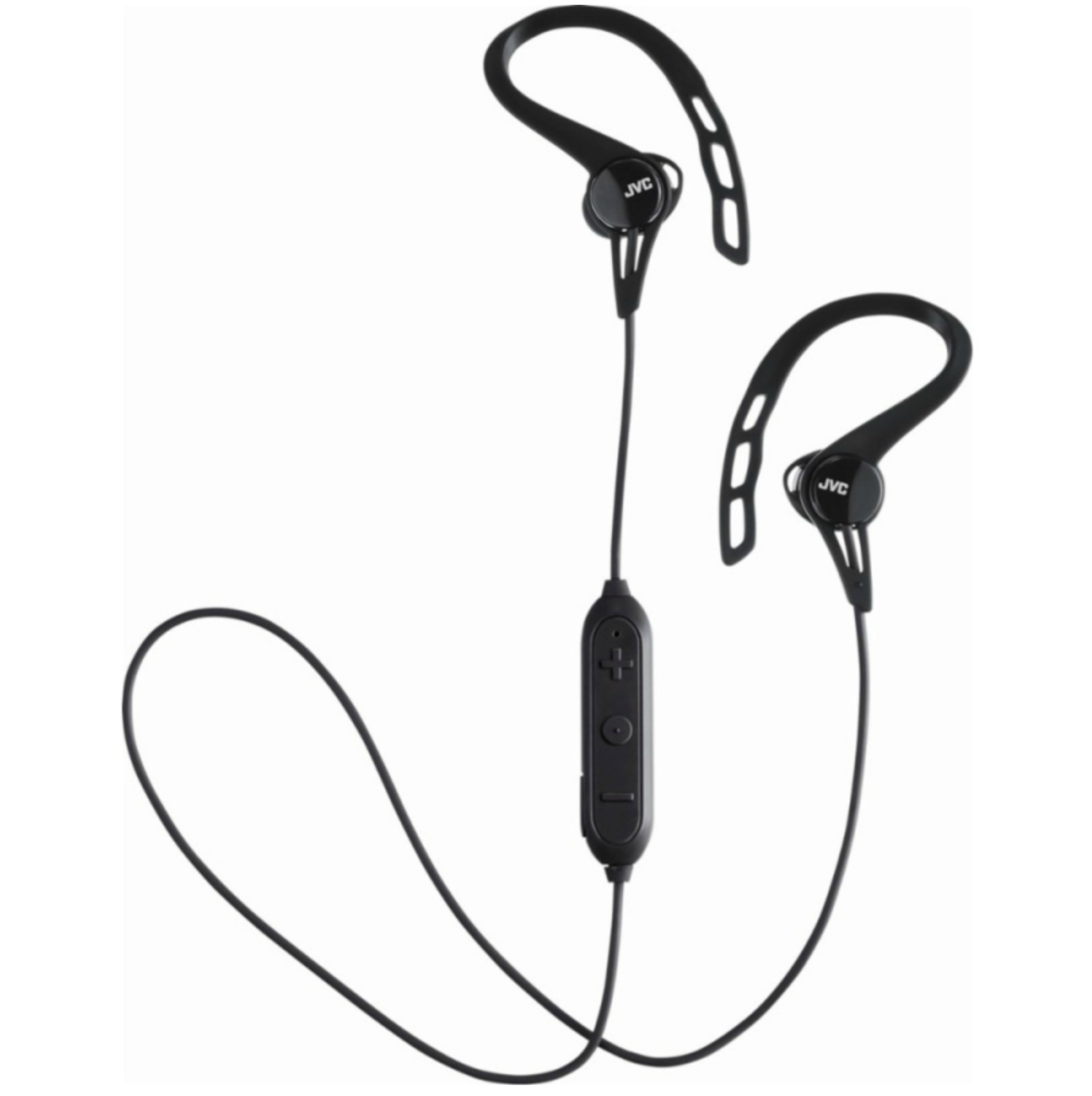 JVC HAEC20BTBE Sports Headphones|Stereo|Wireless Bluetooth|Ear Clip|In Ear|Black