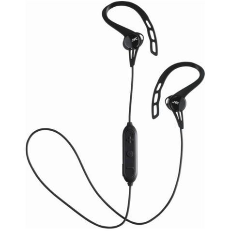JVC HAEC20BTBE Sports Headphones|Stereo|Wireless Bluetooth|Ear Clip|In Ear|Black Thumbnail 1
