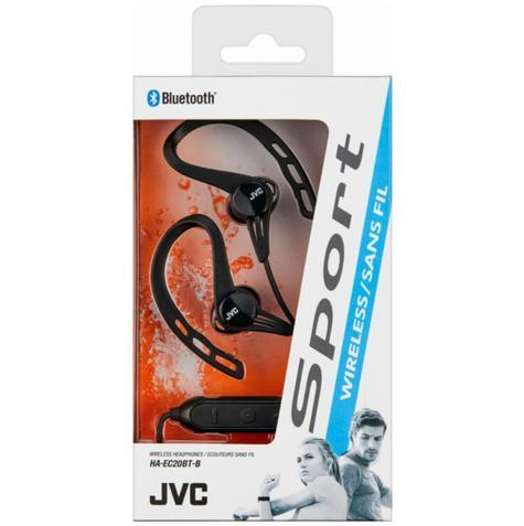 JVC HAEC20BTBE Sports Headphones|Stereo|Wireless Bluetooth|Ear Clip|In Ear|Black Thumbnail 2