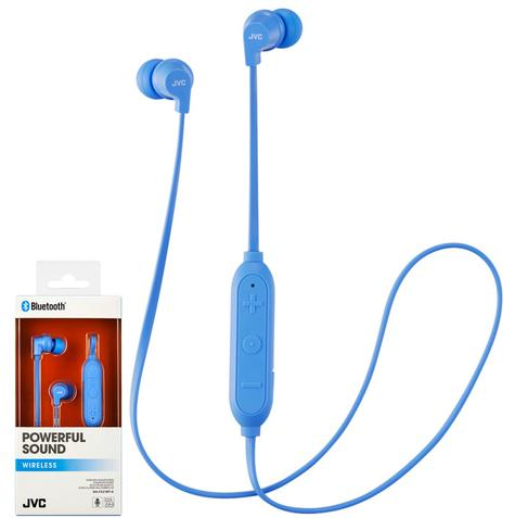 JVC HAFX21BTAE Wireless Bluetooth Remote Headphone|Powerful Sound|In Ear|Blue| Thumbnail 2