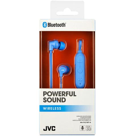 JVC HAFX21BTAE Wireless Bluetooth Remote Headphone|Powerful Sound|In Ear|Blue| Thumbnail 3