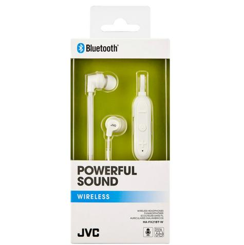 JVC HAFX21BTWE Wireless Bluetooth Remote Headphone|Powerful Sound |In Ear|White| Thumbnail 2