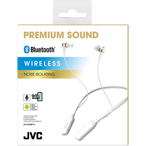 JVC HAFX42BTNE Premium Sound Wireless Bluetooth Earphone / Neck Band Support - Gold Thumbnail 2