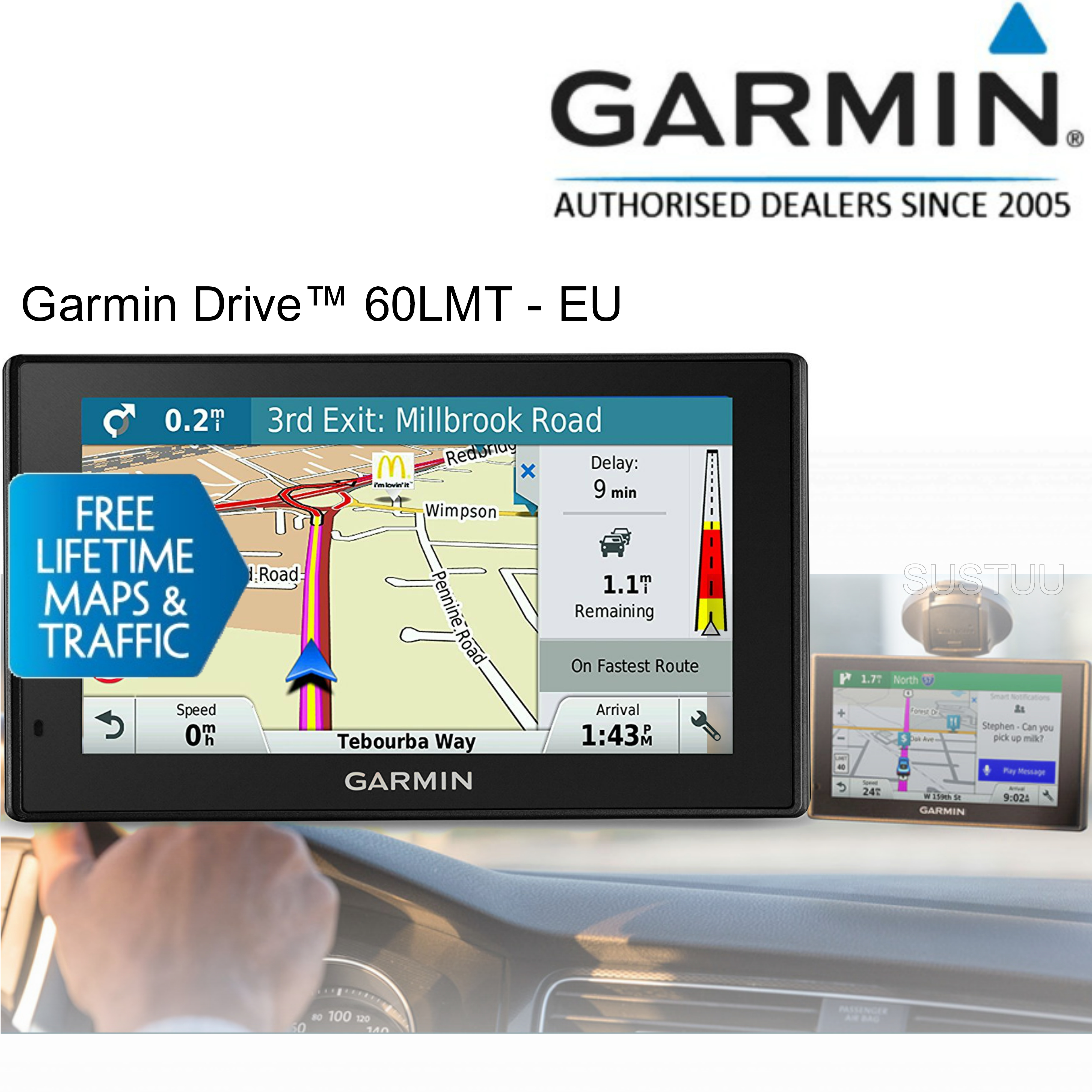 "Garmin Drive 60-LMT?6"" GPS SATNAV?FREE LIFETIME UK Europe Map & Traffic Updates"