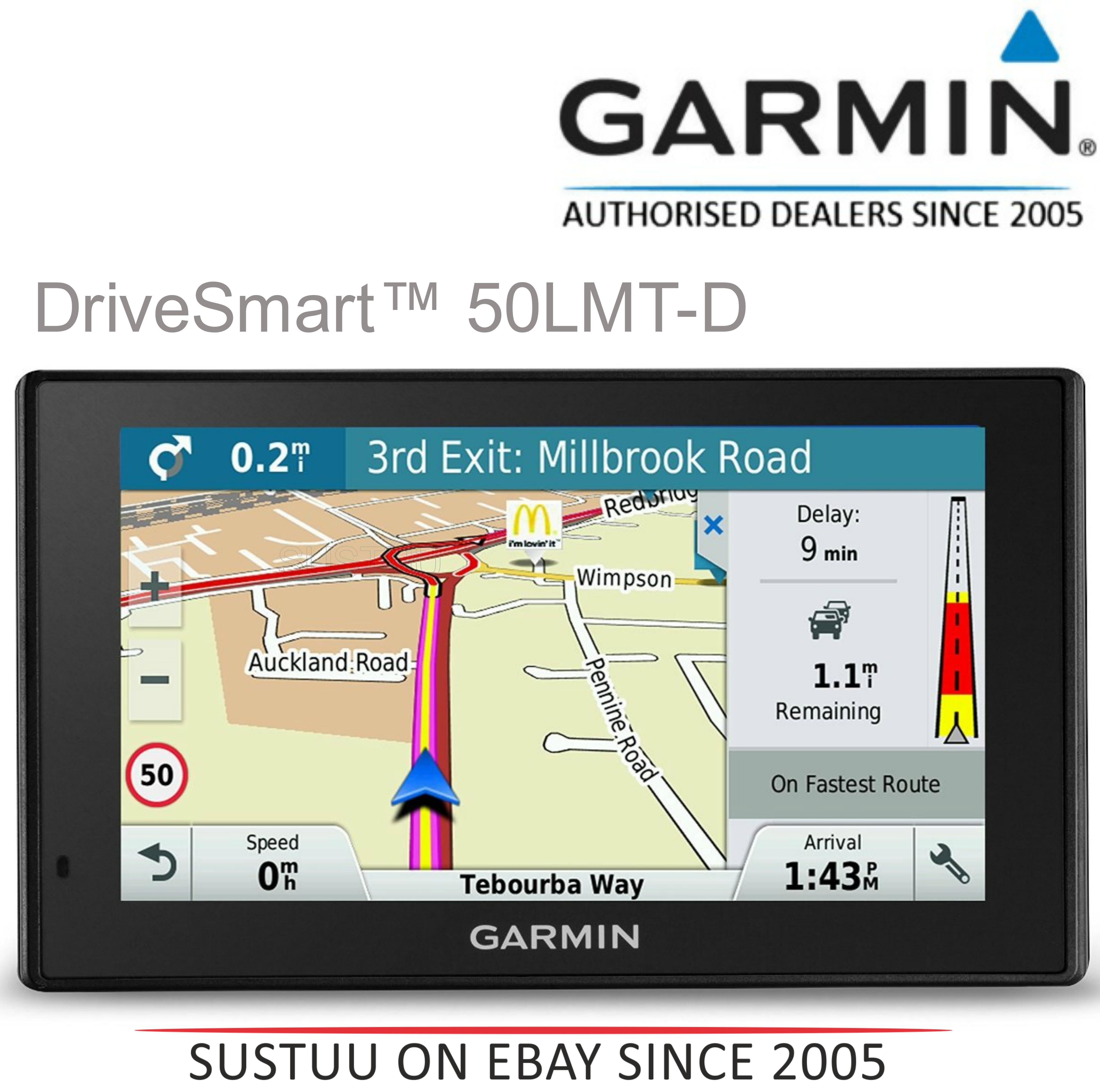 "Garmin DriveSmart 50LMT-D|5"" GPS SatNav|Western Europe-UK-Ireland Maps + Traffic"