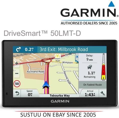 "Garmin DriveSmart 50LMT-D|5"" GPS SatNav|Western Europe-UK-Ireland Maps + Traffic Thumbnail 1"