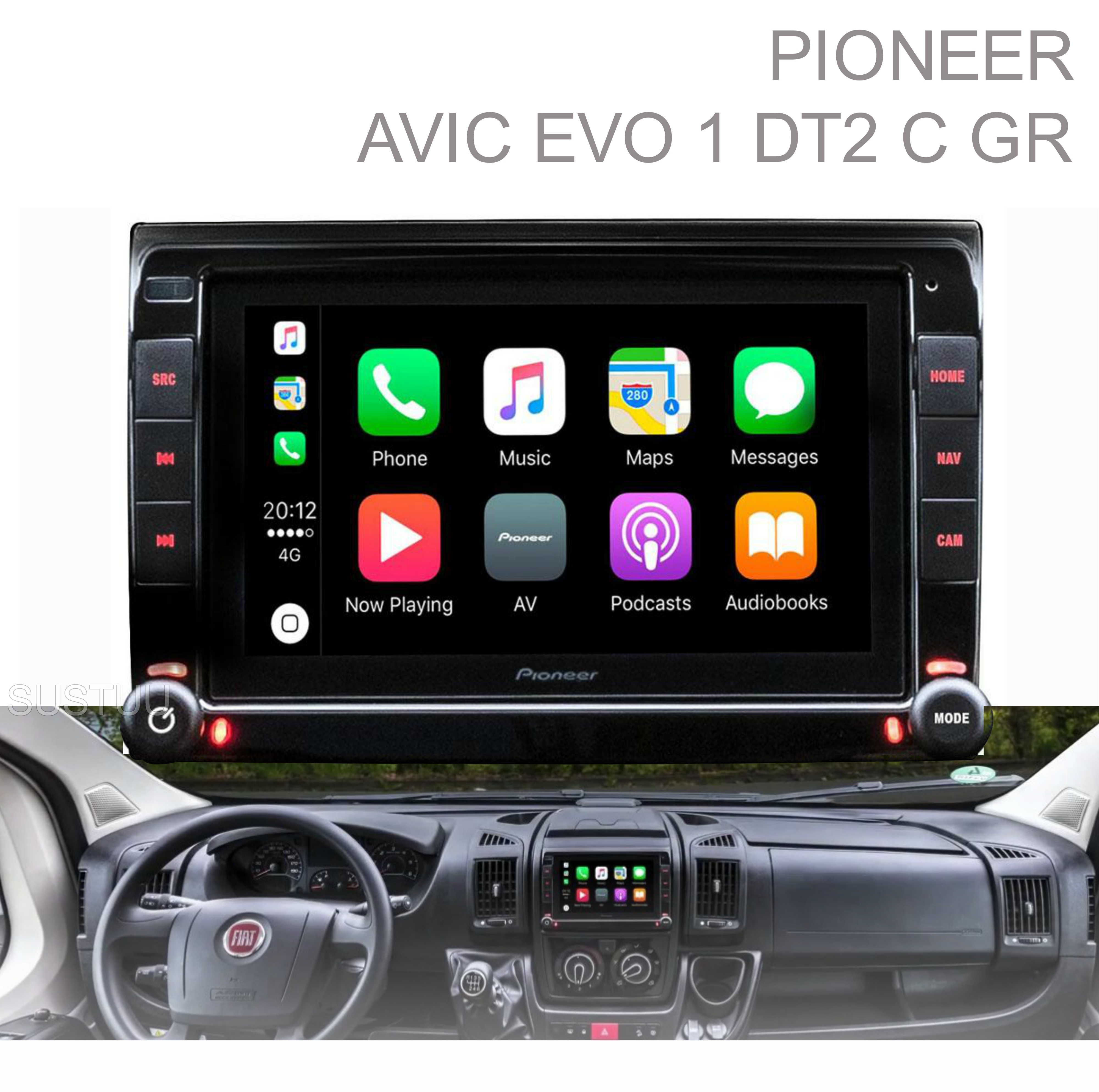 Pioneer Integrated Motorhome Navigation|Apple CarPlay & Android|Piano Black -NEW