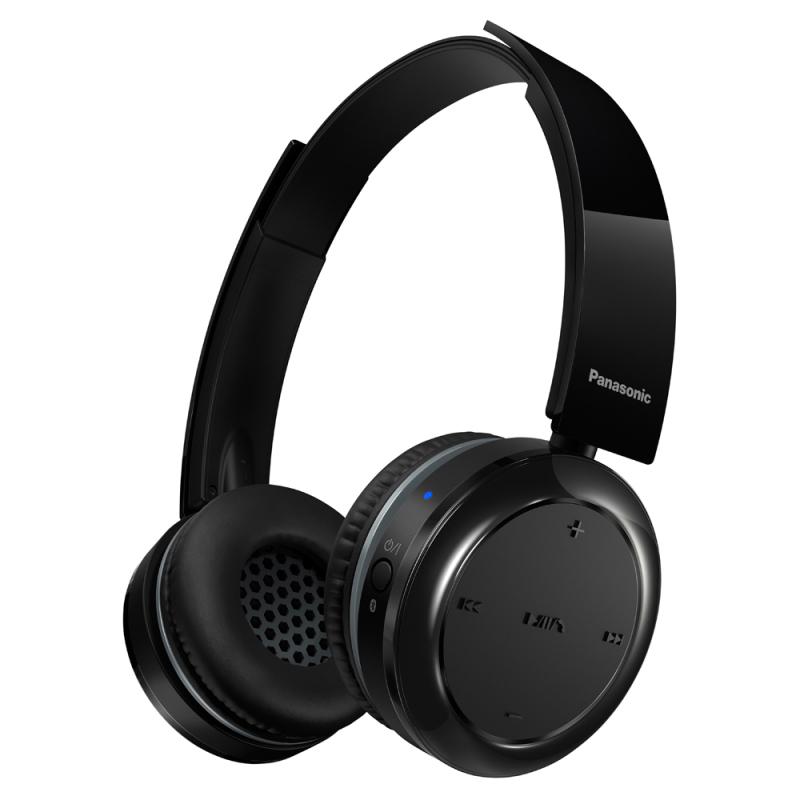 Panasonic RPBTD5EK Wireless Overhead Headphones|Stereo|Bluetooth|Fold-Flat|Black