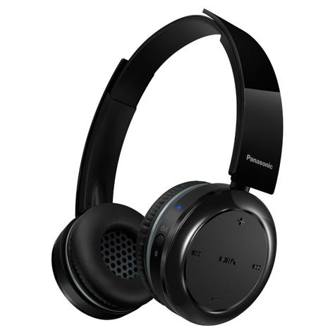 Panasonic RPBTD5EK Wireless Overhead Headphones|Stereo|Bluetooth|Fold-Flat|Black Thumbnail 1