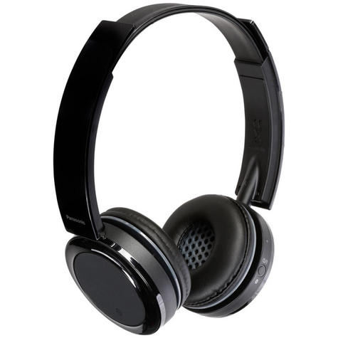 Panasonic RPBTD5EK Wireless Overhead Headphones|Stereo|Bluetooth|Fold-Flat|Black Thumbnail 2