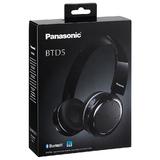 Panasonic RPBTD5EK Wireless Overhead Headphones|Stereo|Bluetooth|Fold-Flat|Black Thumbnail 4