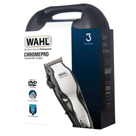 Wahl 79524-800 Mains Operated ChromePro 25 Pcs Hair Cutting Clipper Kit / 3 Year/ Thumbnail 4