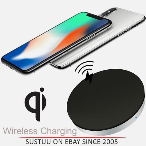 Zens Wireless Charging Pad/Dock|Qi Enabled SmartPhones|For iPhone X & iPhone8-8Plus Thumbnail 1