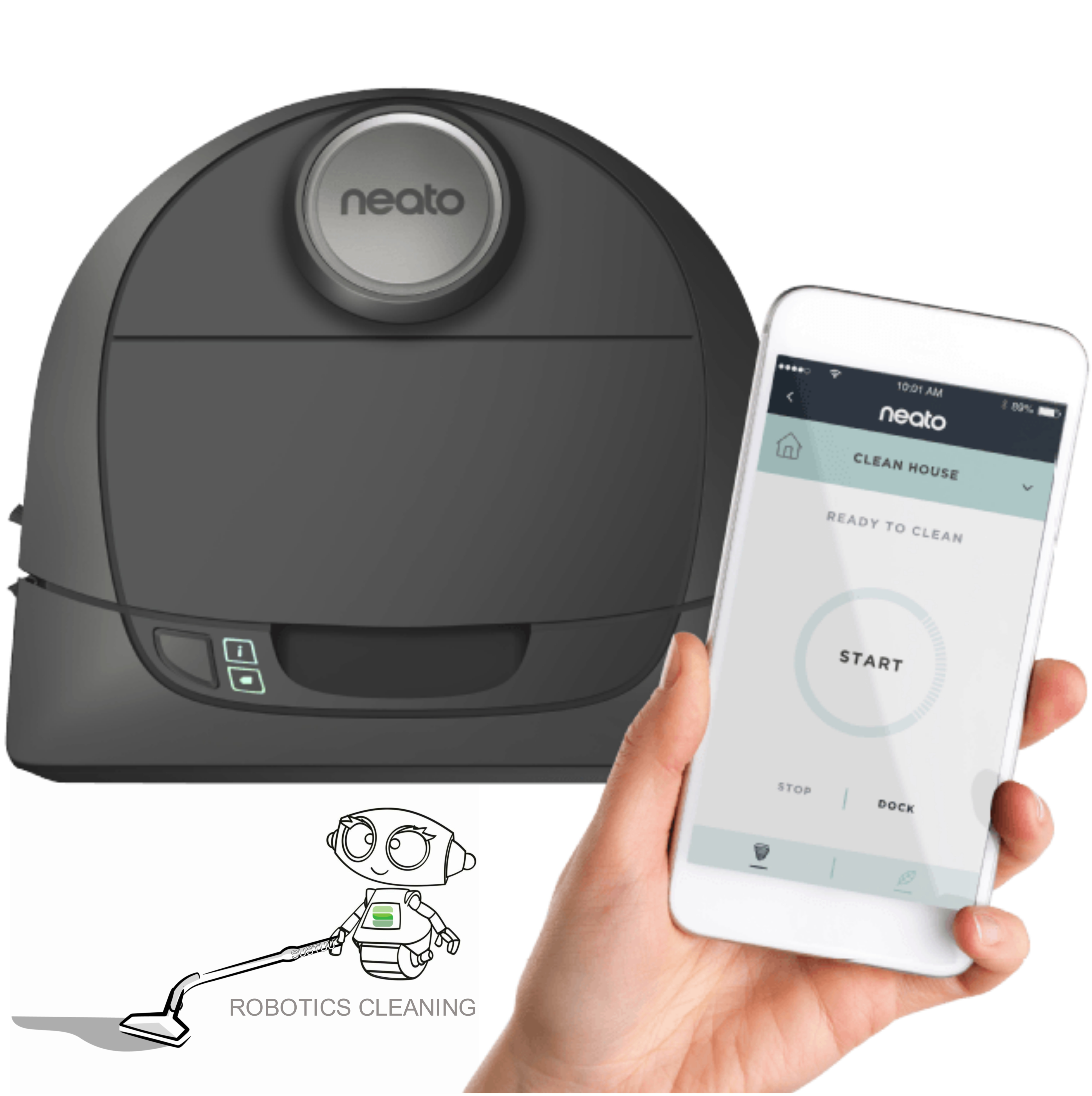 Neato Botvac D5+ Connected|Robotics Vacuum Cleaner|Wi-Fi Enabled|LaserNavigation