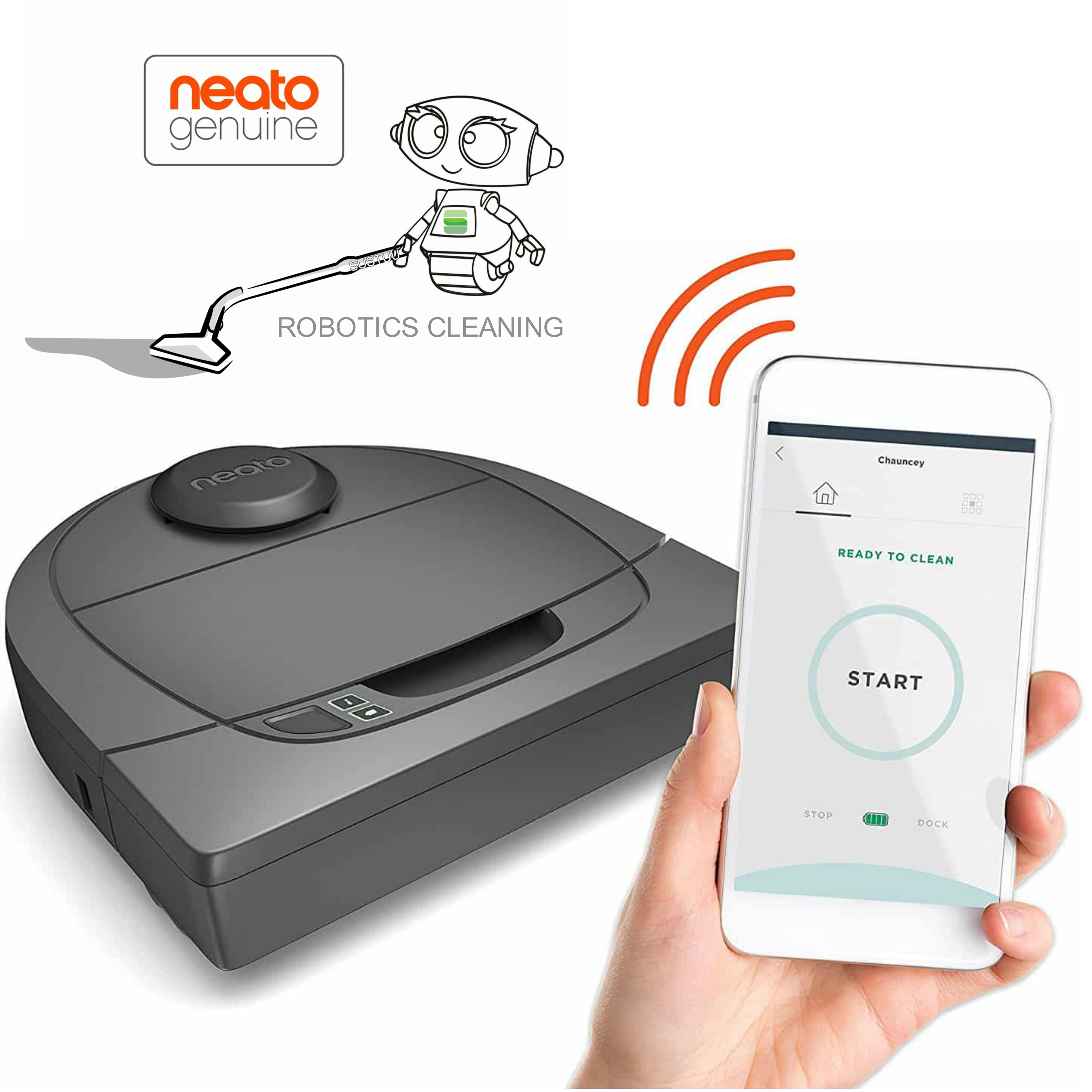 Neato Botvac D3 Connected|Robot Vacuum Cleaner|Wi-Fi Enabled Laser Navigation|Everyday Programmed Cleaning