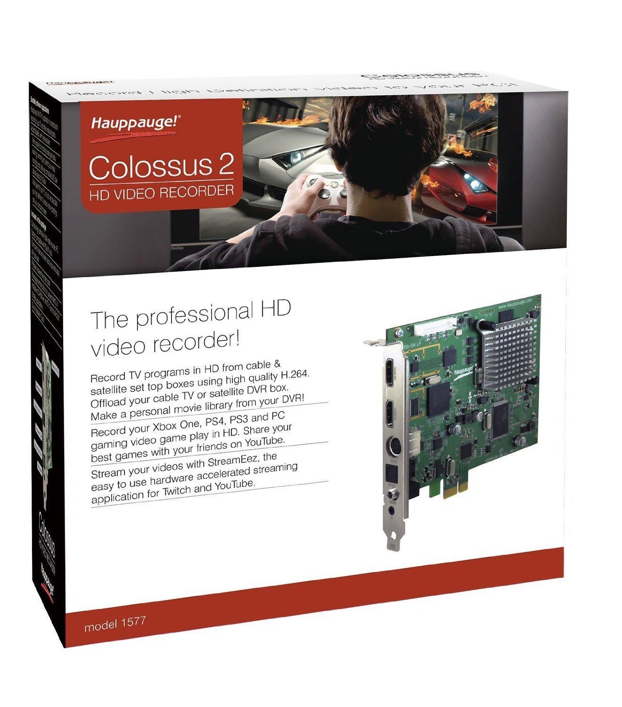 2 hauppauge colossus 2?studio quality hd video recorder?tv programs