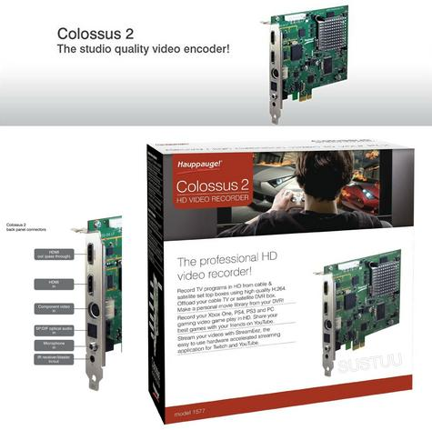 Hauppauge Colossus 2?Studio Quality HD Video Recorder?TV Programs-Game?PC-Consol Thumbnail 1