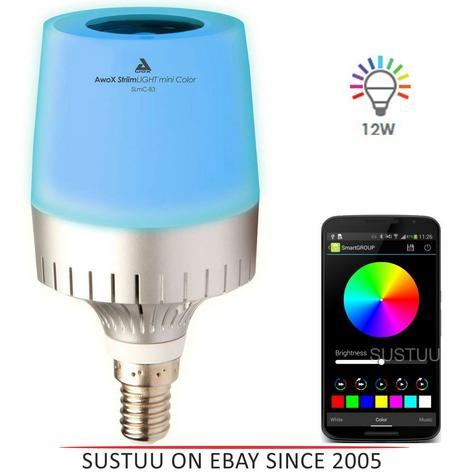 AwoX Striim LIGHT Mini Bluetooth Speaker + Color LED Bulb | Remote Changing Colour Thumbnail 1
