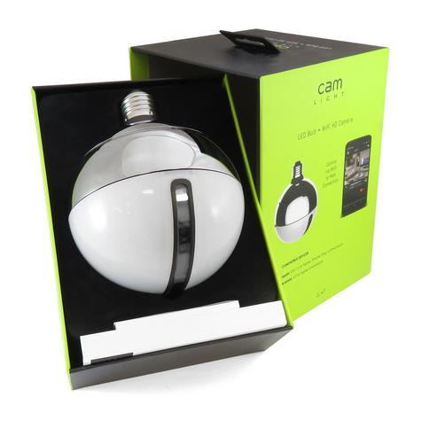 AWOX Cam Light LED Bulb + HDCamera|WiFi-Remote Control by Smartphone|Resin-White Thumbnail 1