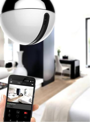 AWOX Cam Light LED Bulb + HDCamera|WiFi-Remote Control by Smartphone|Resin-White Thumbnail 3