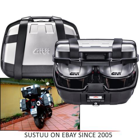 GIVI TRK52N Trekker|52L Universal Motorcycle Top Case|Monokey Aluminium HardBag Thumbnail 1