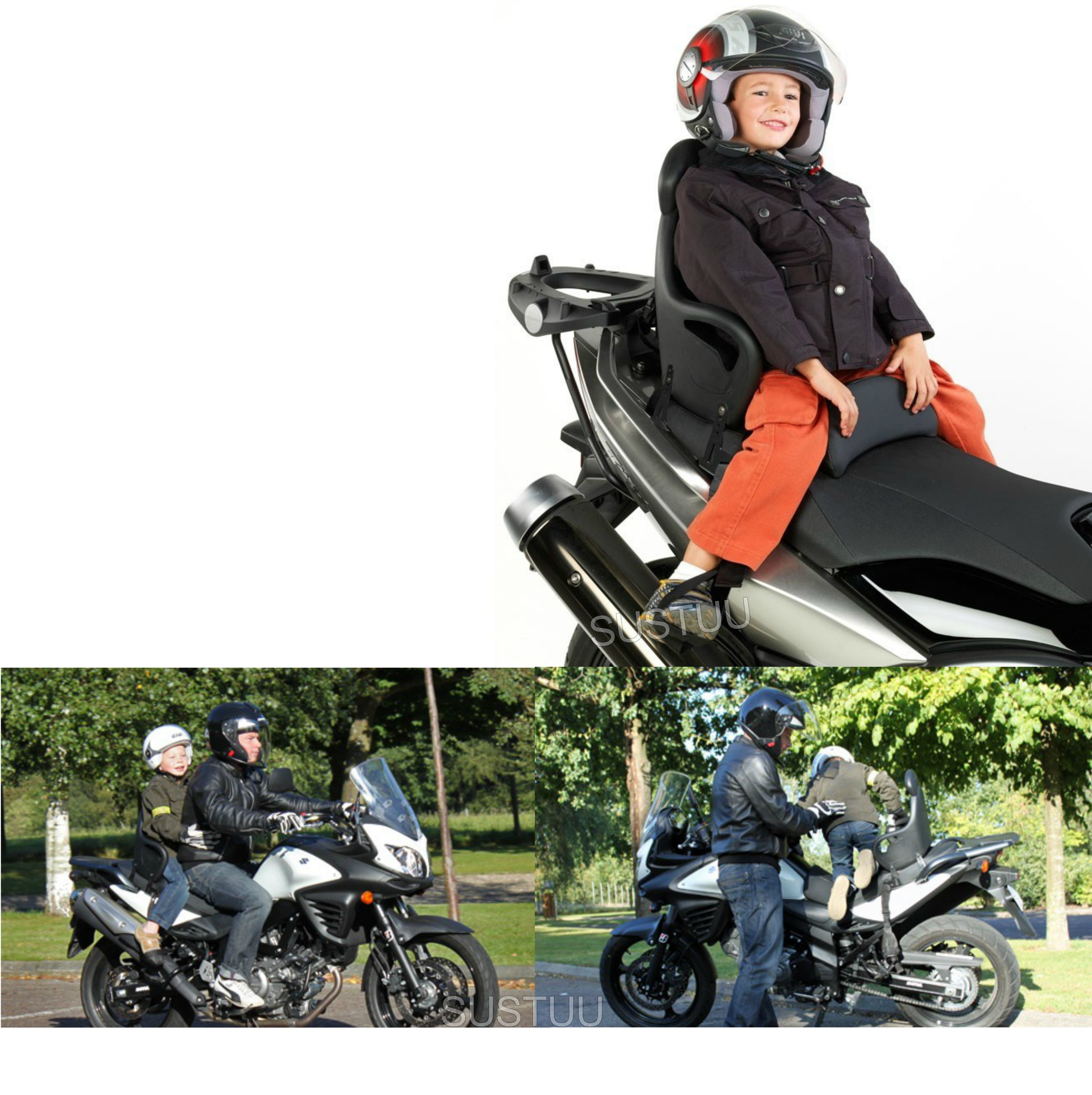 Givi S650|Universal Children Scooter Seat|5-8 Year|Foam Polyurethane|Fixed