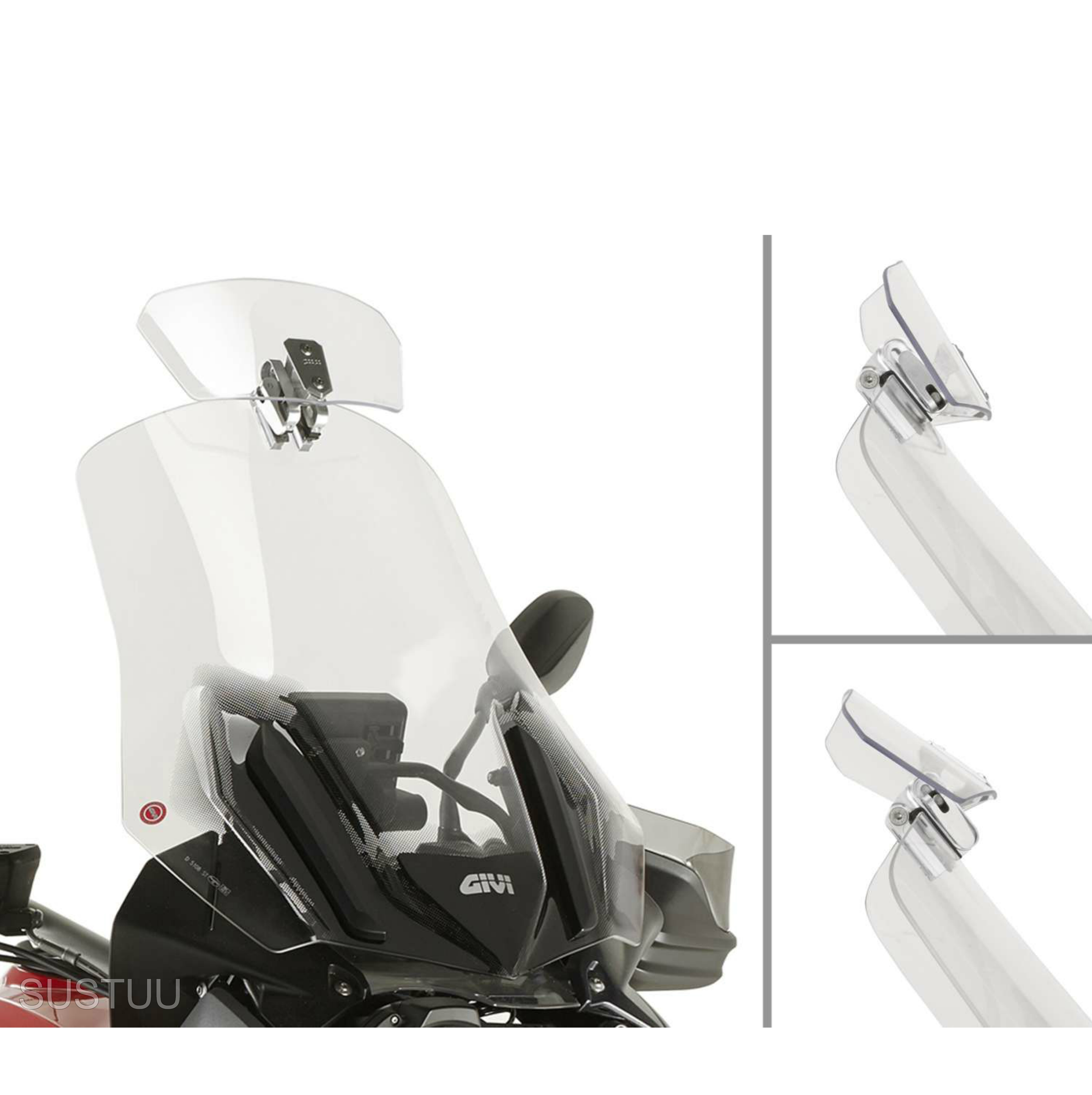 Givi S180T|Universal Transparent Spoiler|Motorcycle Wind Screen Deflector/Shield