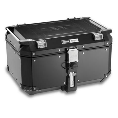 Givi OBK58B|Universal Outback Top Case|Aluminum TREKKER|Monkey System|Black-58 L Thumbnail 2