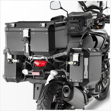 Givi OBK58B|Universal Outback Top Case|Aluminum TREKKER|Monkey System|Black-58 L Thumbnail 4
