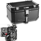 Givi OBK58B|Universal Outback Top Case|Aluminum TREKKER|Monkey System|Black-58 L