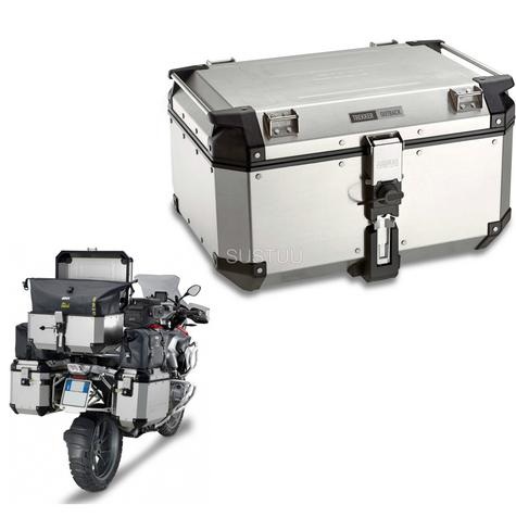 Givi OBK58B|Universal Outback Top Case|Aluminum[Metalic color]TREKKER|Motorcycle Box|58L Thumbnail 1