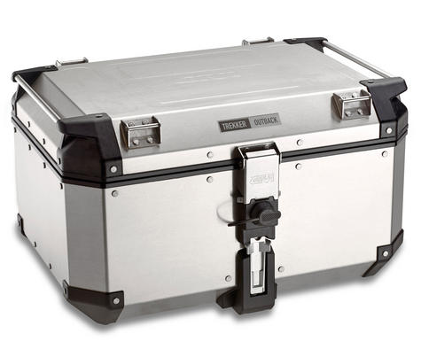Givi OBK58B|Universal Outback Top Case|Aluminum[Metalic color]TREKKER|Motorcycle Box|58L Thumbnail 2