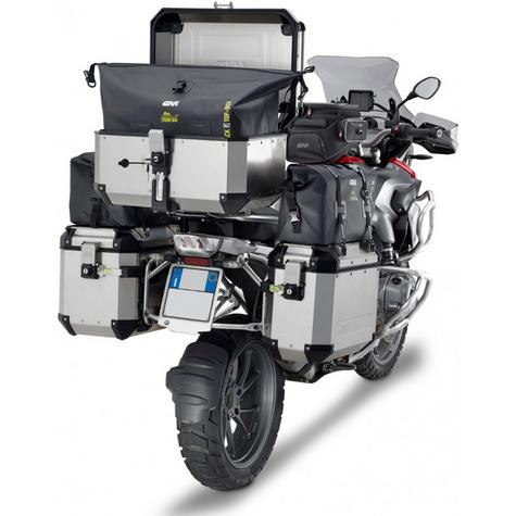 Givi OBK58B|Universal Outback Top Case|Aluminum[Metalic color]TREKKER|Motorcycle Box|58L Thumbnail 5