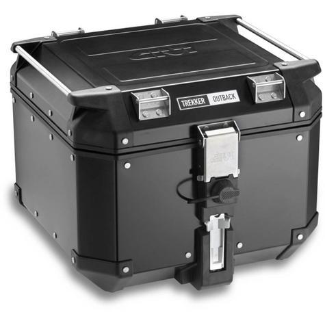 Givi OBK42|Trekker Outback Motorcycle Top Box-Case|42 Liter|Black Line Aluminium Thumbnail 2