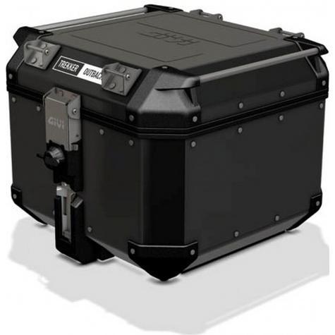 Givi OBK42|Trekker Outback Motorcycle Top Box-Case|42 Liter|Black Line Aluminium Thumbnail 3