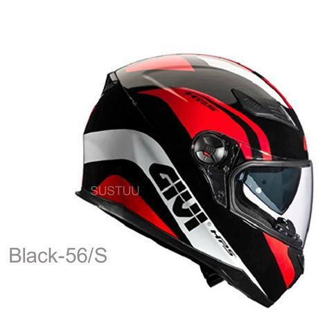 Givi Integral Helmet with Sun Visor|Motorcycle|Black-56/S|H504FPTBK56 Hps 50.4B Thumbnail 1