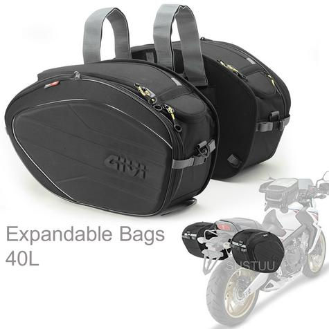 Givi Easy Bag Expandable Soft Side Saddle Bags|Universal Motorcycle Luggage|40Lt Thumbnail 1
