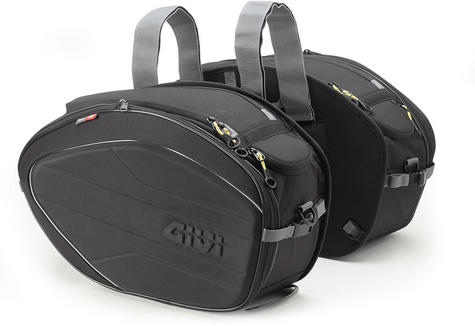 Givi Easy Bag Expandable Soft Side Saddle Bags|Universal Motorcycle Luggage|40Lt Thumbnail 2