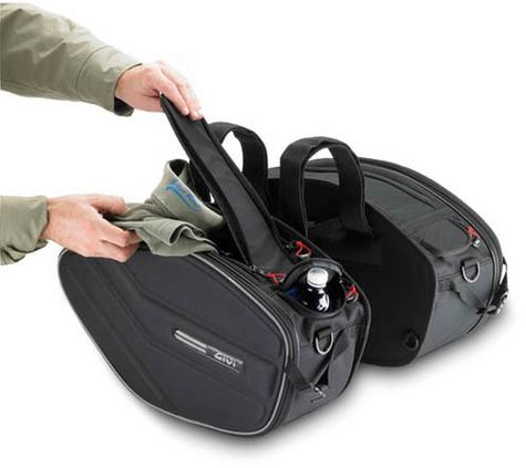 Givi EA101B|Motorcycle Expandable Pannier/Saddle/Side/Luggage Easy-T Soft Bags|30Ltr Thumbnail 6