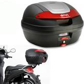 Givi E340N|Monolock Motorcycle Scooter Top Box-Luggage Case|With Universal Plate?34Ltr