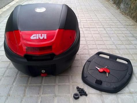 Givi E300N|Monolock Motorcycle Scooter Top Box-Luggage Case|Universal Plate|30L Thumbnail 5