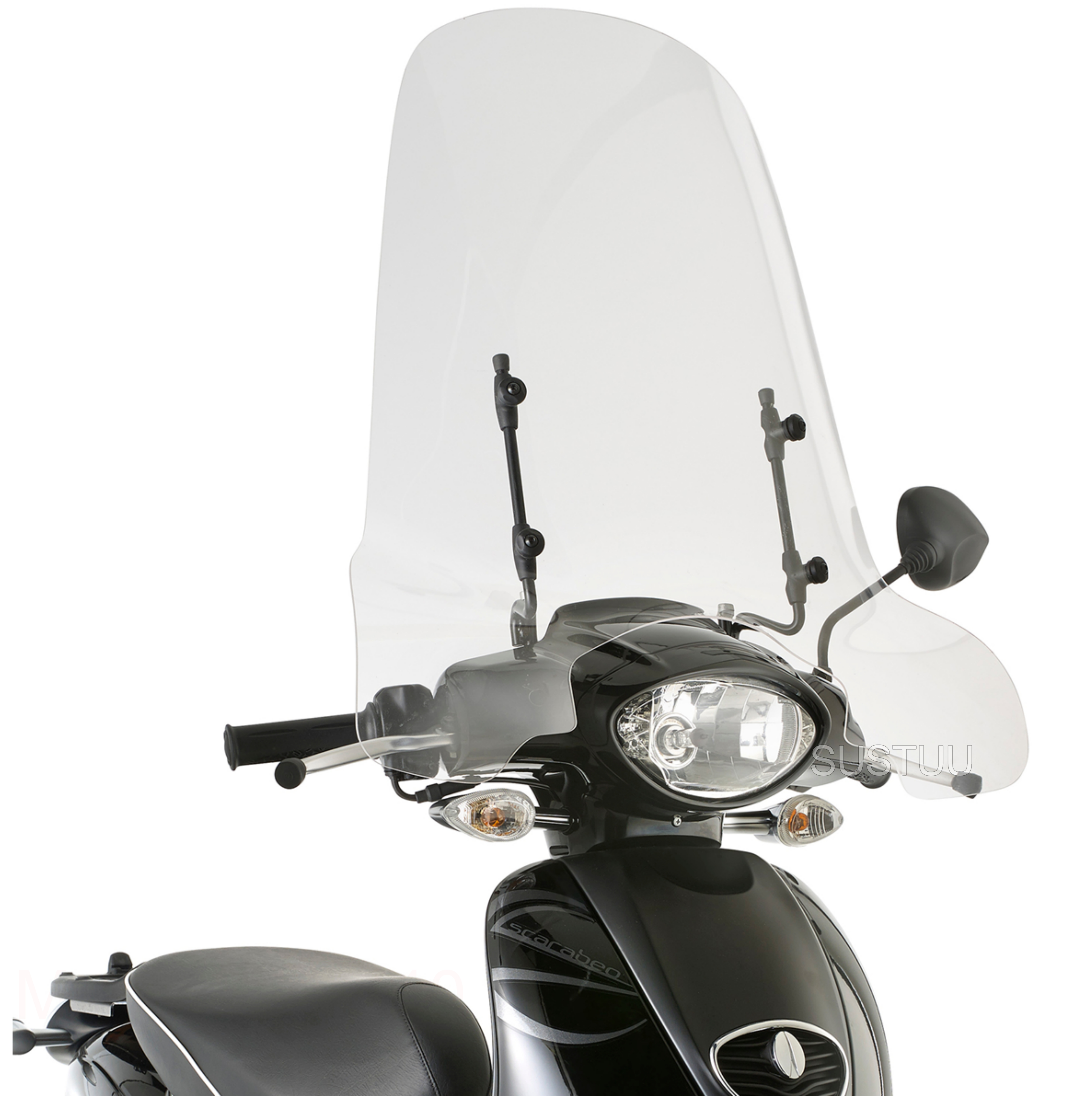 GIVI 6704A|Clear Windscreen|Scooter Front Glass|56x66cm|For Aprilia Scarabeo 50