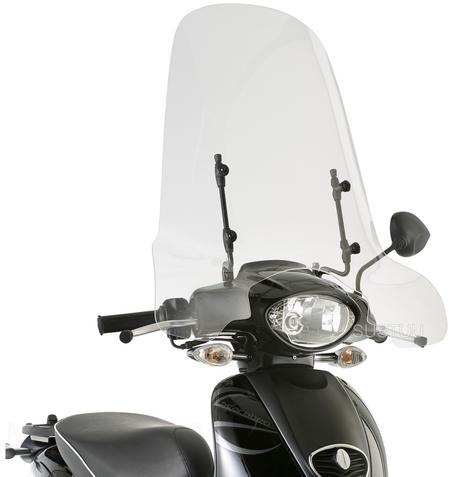 GIVI 6704A|Clear Windscreen|Scooter Front Glass|56x66cm|For Aprilia Scarabeo 50 Thumbnail 1