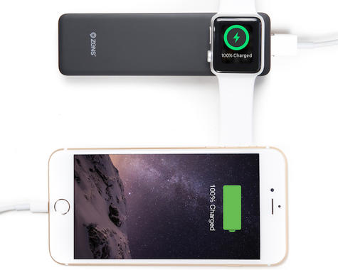 Zens Wireless Charger|iPhone/ IOS Watch Powerbank Backup|4000mAh Battery|Black Thumbnail 3
