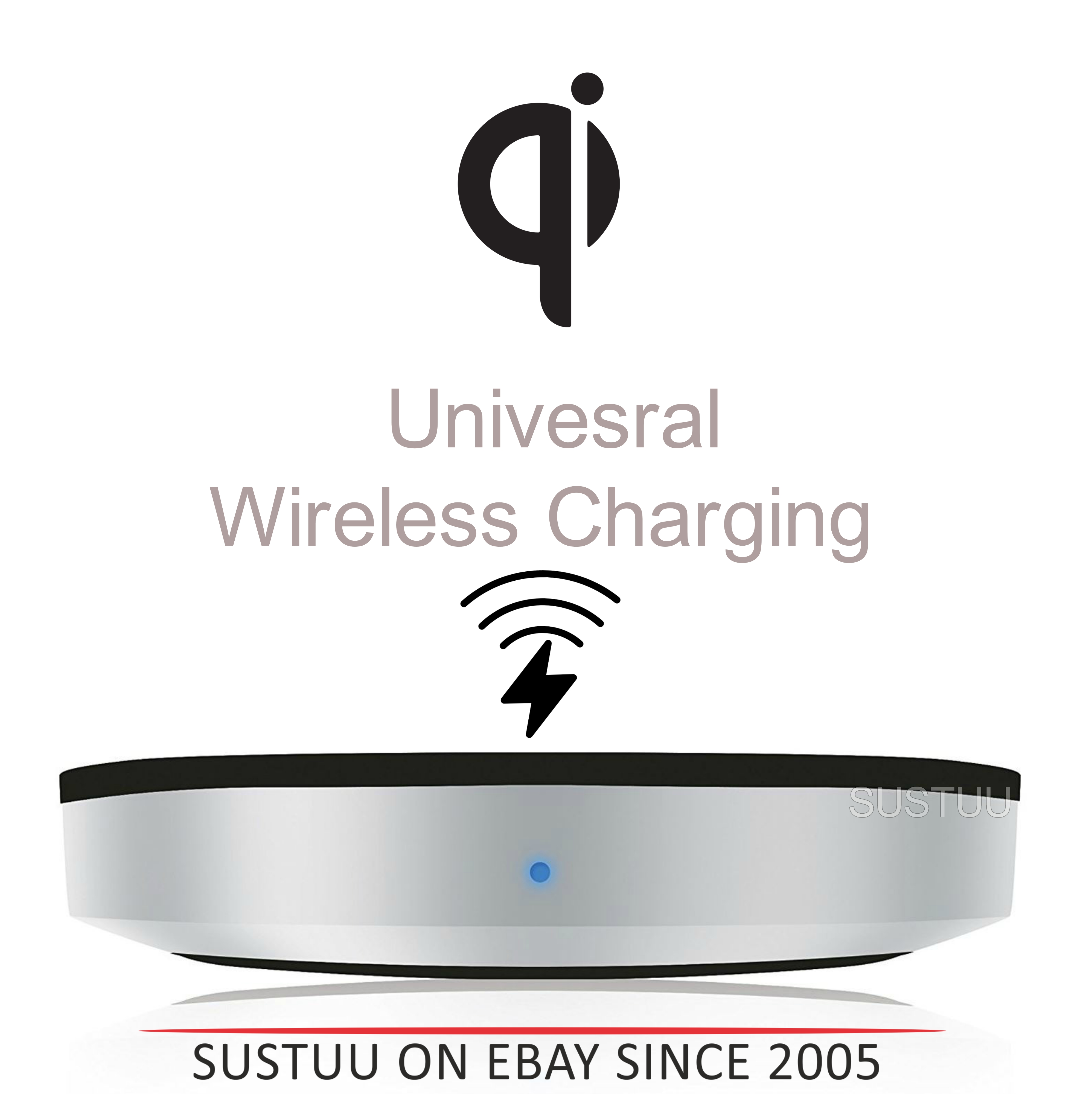 Zens Universal Wireless Charging Pad/Dock|For Qi Enabled SmartPhones [See Details]